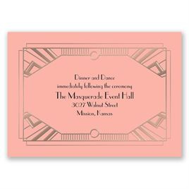 Love Captured - Rose Gold - Foil Reception Card