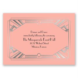 Love Captured - Silver - Foil Reception Card