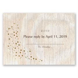 Naturally Fancy - Gold - Foil Response Card