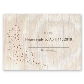 Naturally Fancy - Rose Gold - Foil Response Card