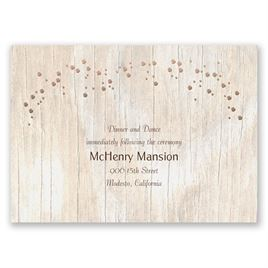 Naturally Fancy - Rose Gold - Foil Reception Card