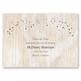 Naturally Fancy - Silver - Foil Reception Card