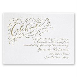 Naturally Romantic - Letterpress Reception Card