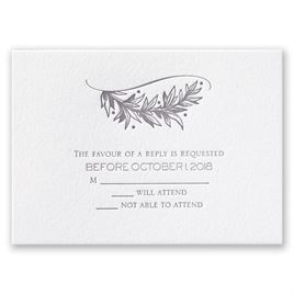 Natural Crest - Letterpress Response Card