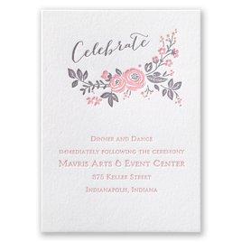 Pretty Perfect - Letterpress Reception Card