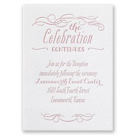 Modern Elegance - Letterpress Reception Card