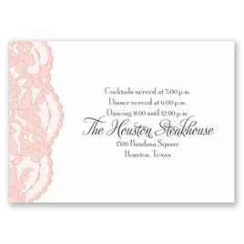 Lacy Gates - Reception Card