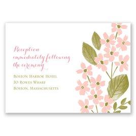 In the Garden - Reception Card