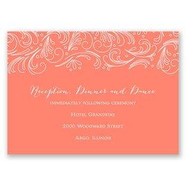 Modern Flourish - Reception Card
