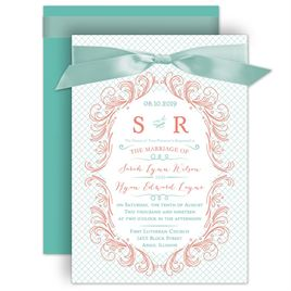 Modern Flourish   Invitation