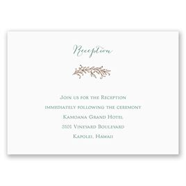 Simply Natural - Reception Card