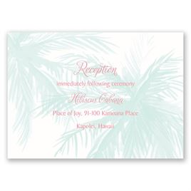 Palm Tree Passion - Reception Card