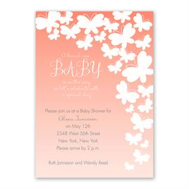 Butterfly Silhouettes - Baby Shower Invitation