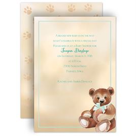 Baby Shower Invitations: Teddy Bear Classic Baby Shower Invitation