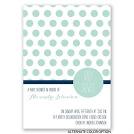 Pattern Love - Baby Shower Invitation