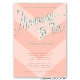 Bold Chevron - Baby Shower Invitation