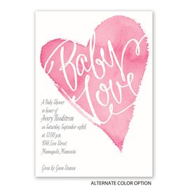 All My Heart - Baby Shower Invitation