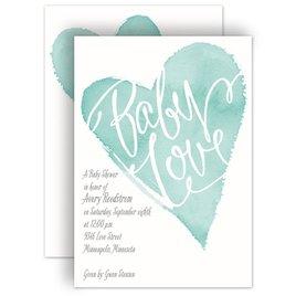 David Tutera Baby Shower Invitations: All My Heart Baby Shower Invitation