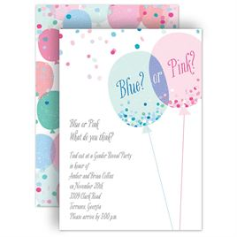 Gender Reveal Invitations Invitations By Dawn
