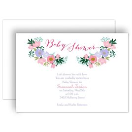 Custom baby shower invitations invitations by dawn custom baby shower invitations delicate flowers baby shower invitation filmwisefo Image collections