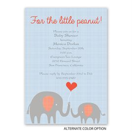 Little Peanut - Baby Shower Invitation