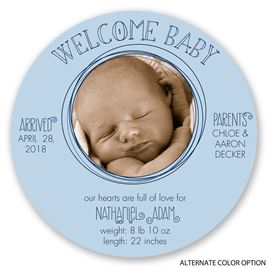 Well-Rounded Welcome - Birth Announcement