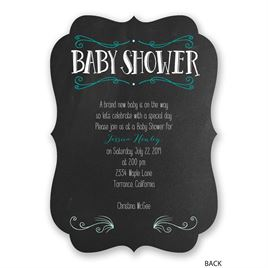 Chalkboard Crest - Baby Shower Invitation