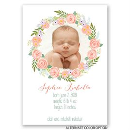 Floral Halo - Birth Announcement