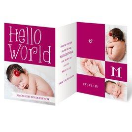 Birth Announcements: Hello Baby Mini Birth Announcement