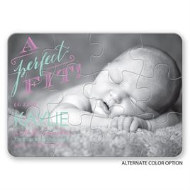 A Perfect Fit - Birth Announcement Puzzle