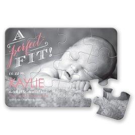 David Tutera Birth Announcements: A Perfect Fit Birth Announcement Puzzle