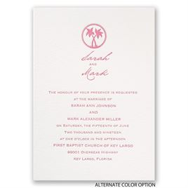 Tropical Chic - Letterpress Invitation