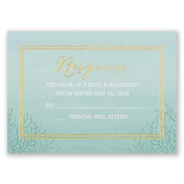 Sea Beauty - Aqua - Foil Response Card