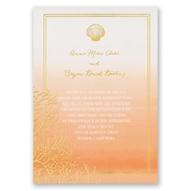 Sea Beauty - Corabell - Foil Invitation