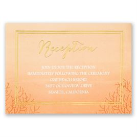 Sea Beauty - Corabell - Foil Reception Card