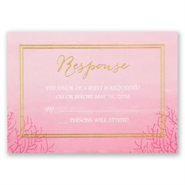 Sea Beauty - Fuchsia - Foil Response Card