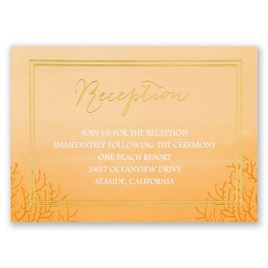 Sea Beauty - Poppy - Foil Reception Card