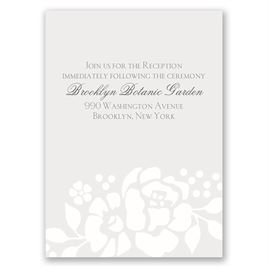 Floral Extravagance - Reception Card