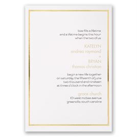 Gold Lining Invitation