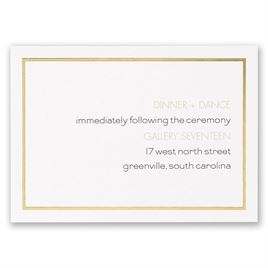 Gold: Gold Lining Reception Card