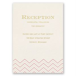 Jewel of My Heart - Foil Reception Card