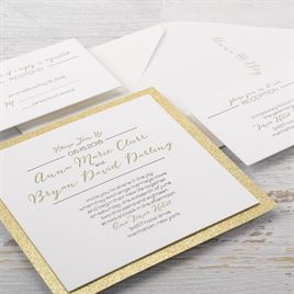 Bold & Gold - Letterpress Invitation