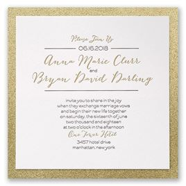 Letterpress Wedding Invitations Bold Gold Invitation