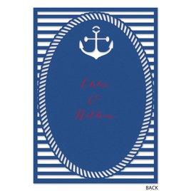 Nautical Style - Laser Cut Invitation