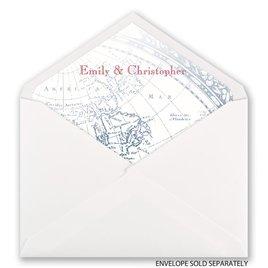 Seafaring Love - Designer Envelope Liner
