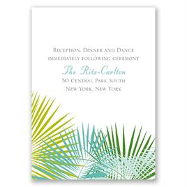 Beach Beauty - Reception Card
