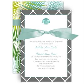 Palm Tree Wedding Invitations: 