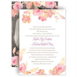 watercolor wedding invitations english rose invitation - Watercolor Wedding Invitations