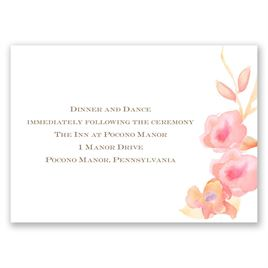 English Rose - Reception Card