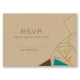 Pretty Prisms - Gold - Foil Response Card